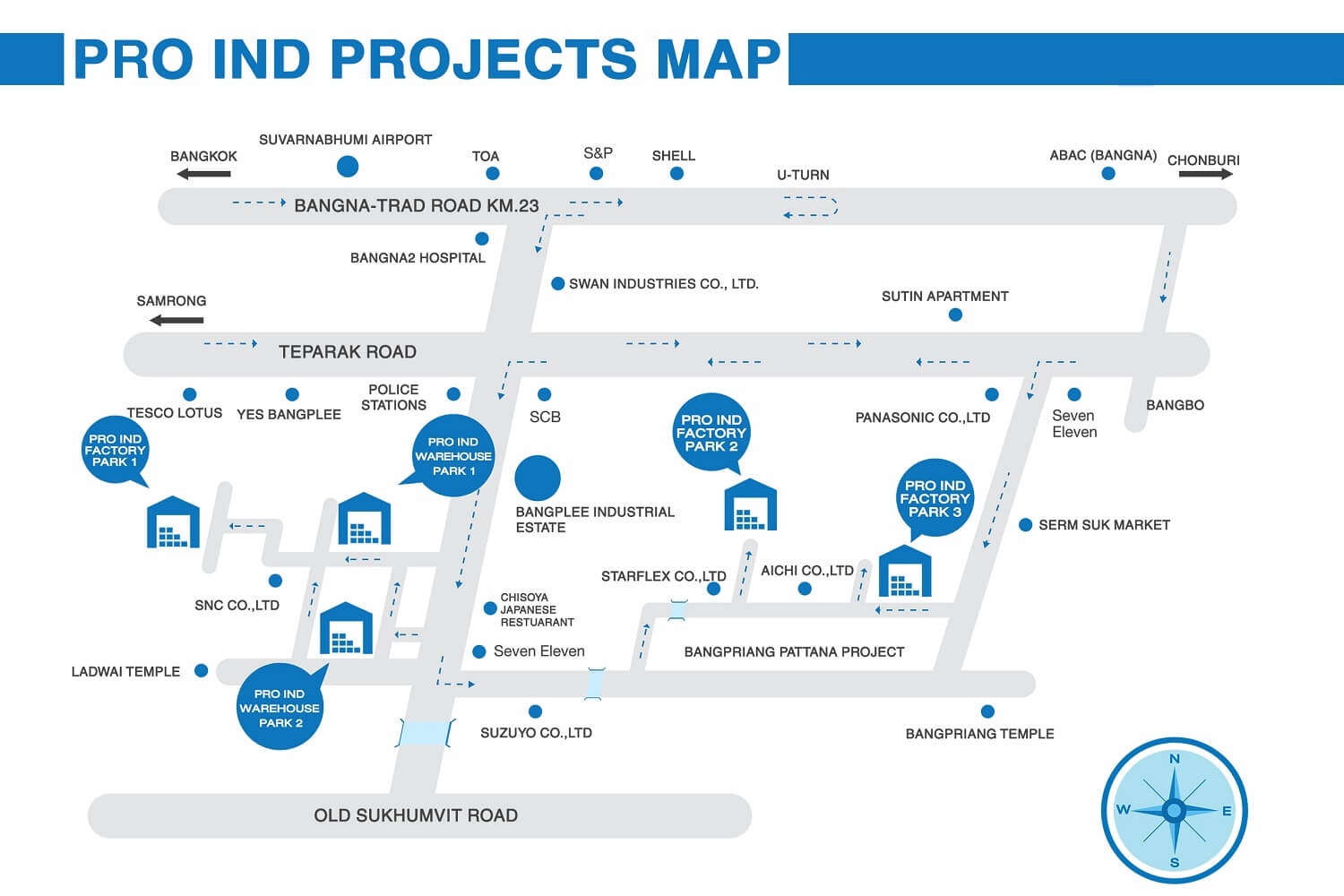 Pro Ind 6 Projects Map