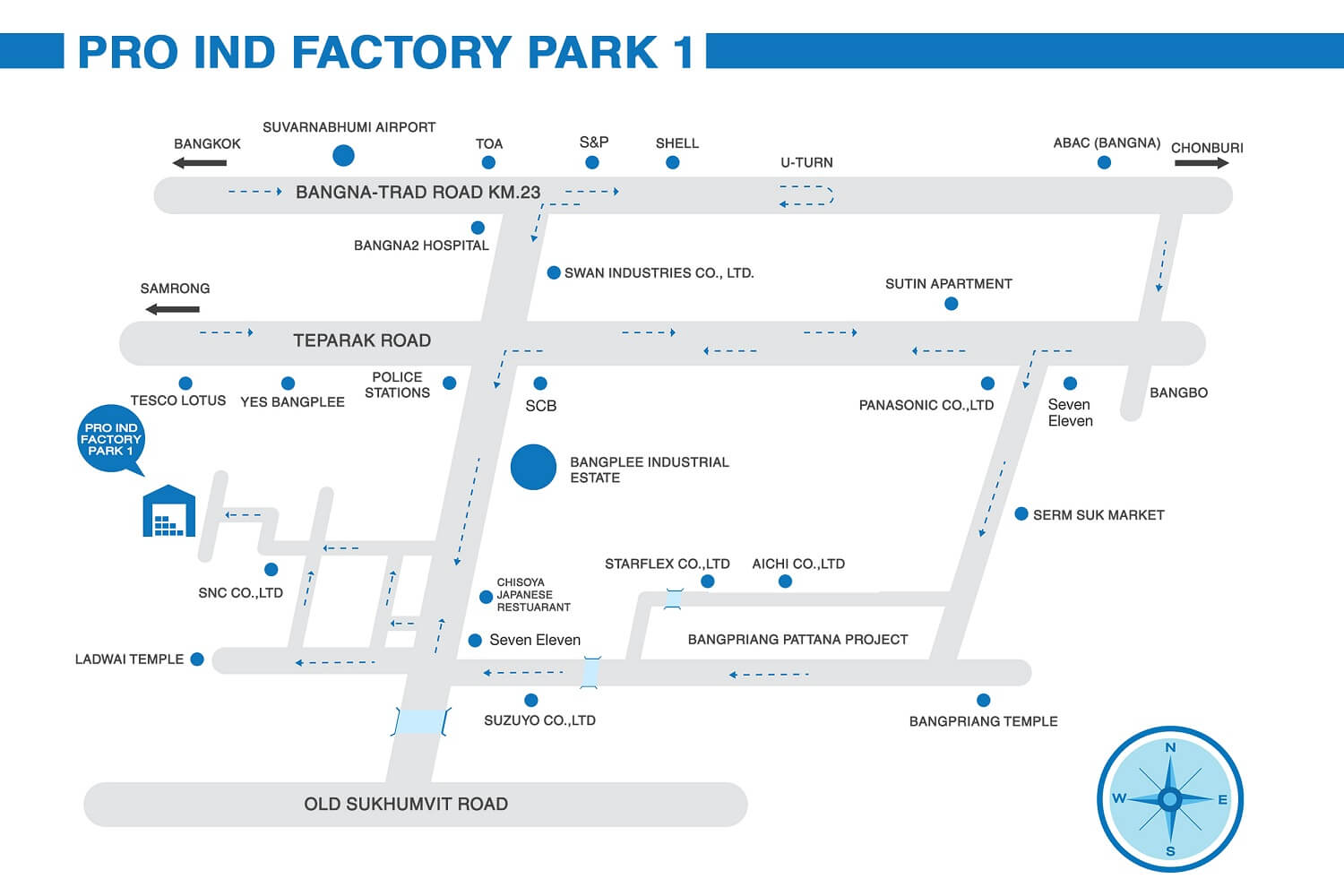 Pro Ind Factory Park 1 Project Map