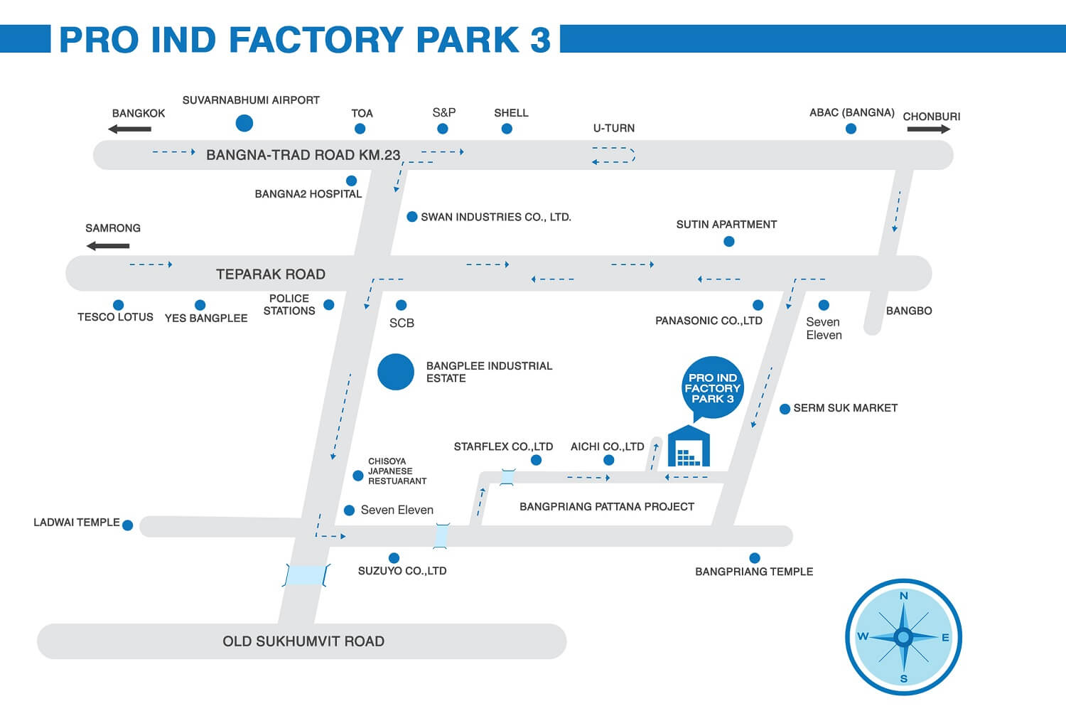 Pro Ind Factory Park 3 Project Map
