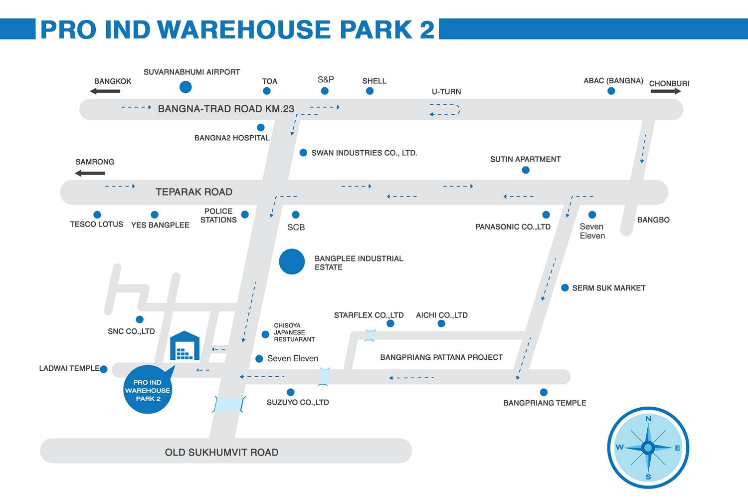 Pro Ind warehouse Park 2 Project Map