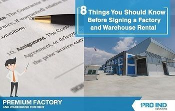 8 Things You Should Know Before Signing a Factory and Warehouse Rental Contract