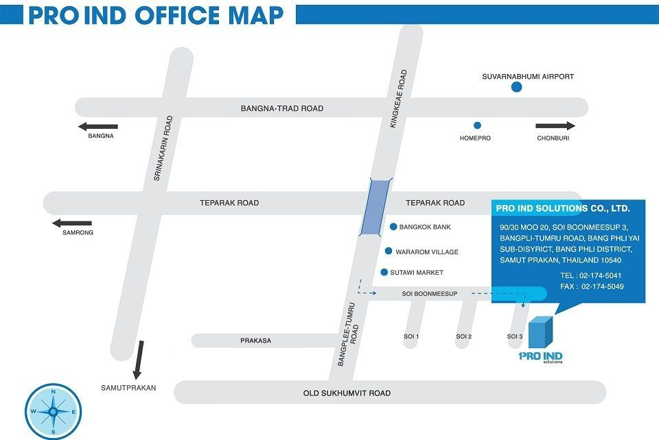 Pro Ind Head Office Map