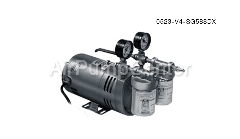 Vacuum Pump , ปั๊มสุญญากาศ , GAST , NITTO , MEDO , OP , ORION , Refcenter, DOA-P504-BN, 0523-V4-SG588DX