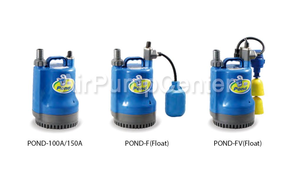 Submersible Pump, ปั๊มแช่, ไดโว่, ปั๊มน้ำเสีย, HCP, POND Series, POND100A, POND100AF, POND100AFV, POND150A, POND150AF, POND150AFV