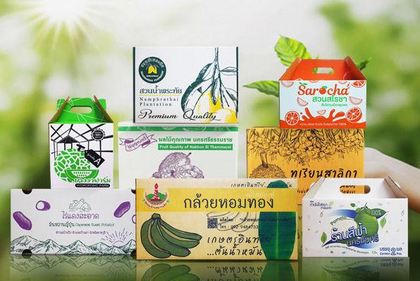 รับผลิตกล่องลูกฟูก กล่องผลไม้เพื่อการเกษตร ลังกระดาษสำเร็จรูป และ สั่งผลิต ตามความต้องการลูกค้า