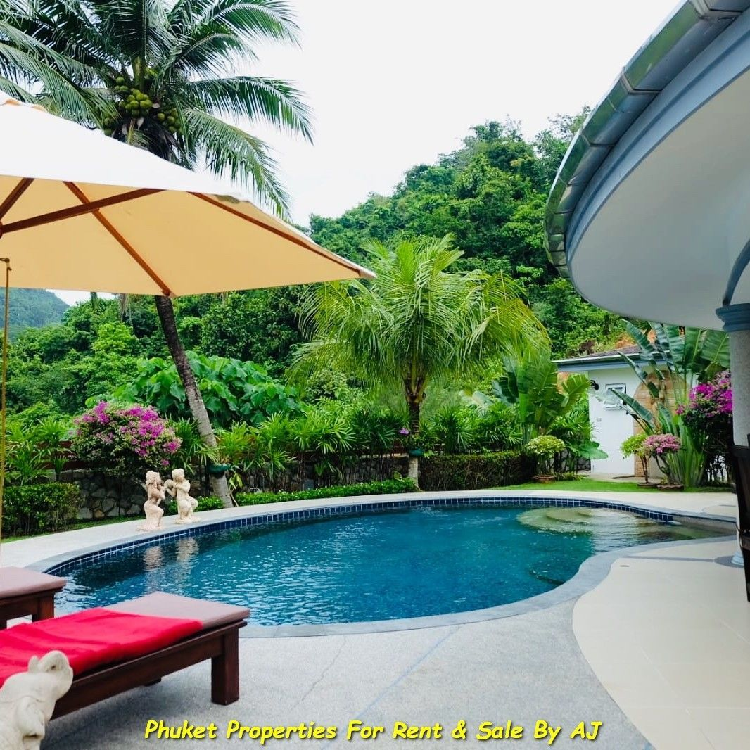 3 Bedrooms Villa with lovely private pool at Nai Yang Beach. A Surrounding with mountain View very fresh in the morning with the light fog.