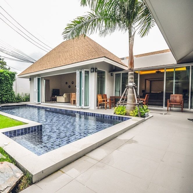 Pool villa for long term rent at Pasak Soi 3. There are both 2 bedrooms & 3 bedrooms villas for rent. Located at Pasak Soi 3, Cherngtalay Phuket