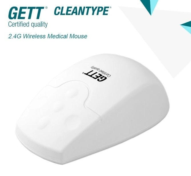 2.4G WIRELESS OPTICAL MOUSE Silicone seal,IP65 splash proof,Optical detection,Click scroll
