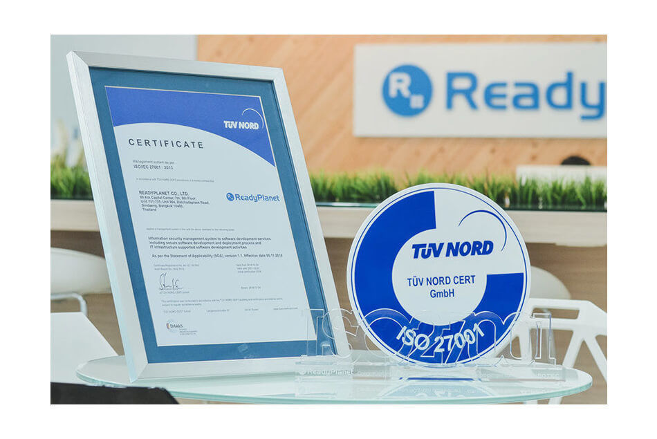 ReadyPlanet World Class Certificate ISO 27001:2013