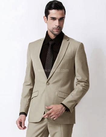 เสื้อสูทผู้ชาย สีกากี suitdd khaki code#11