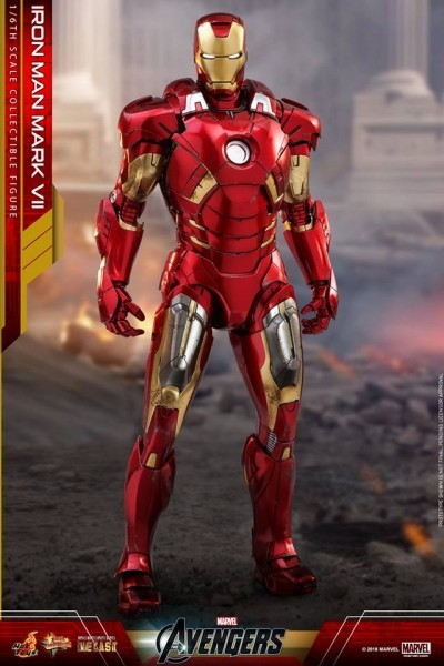 Hot Toys Iron Man 2 MARK VI 1//6 THIGH ARMOR Damaged Ver