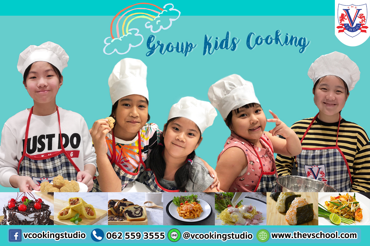 Group kids cooking course