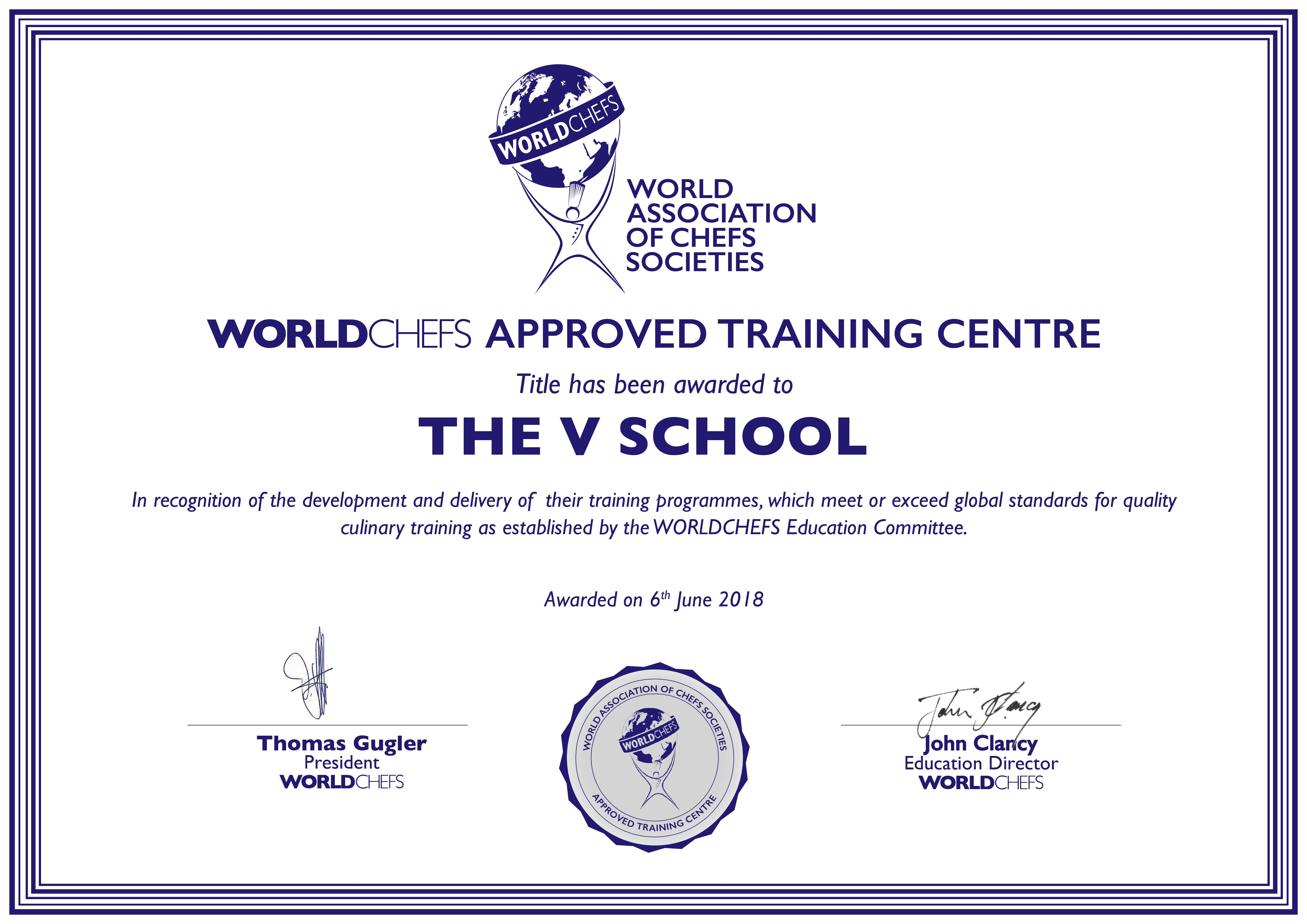 WorldChefs Approved Training Centre