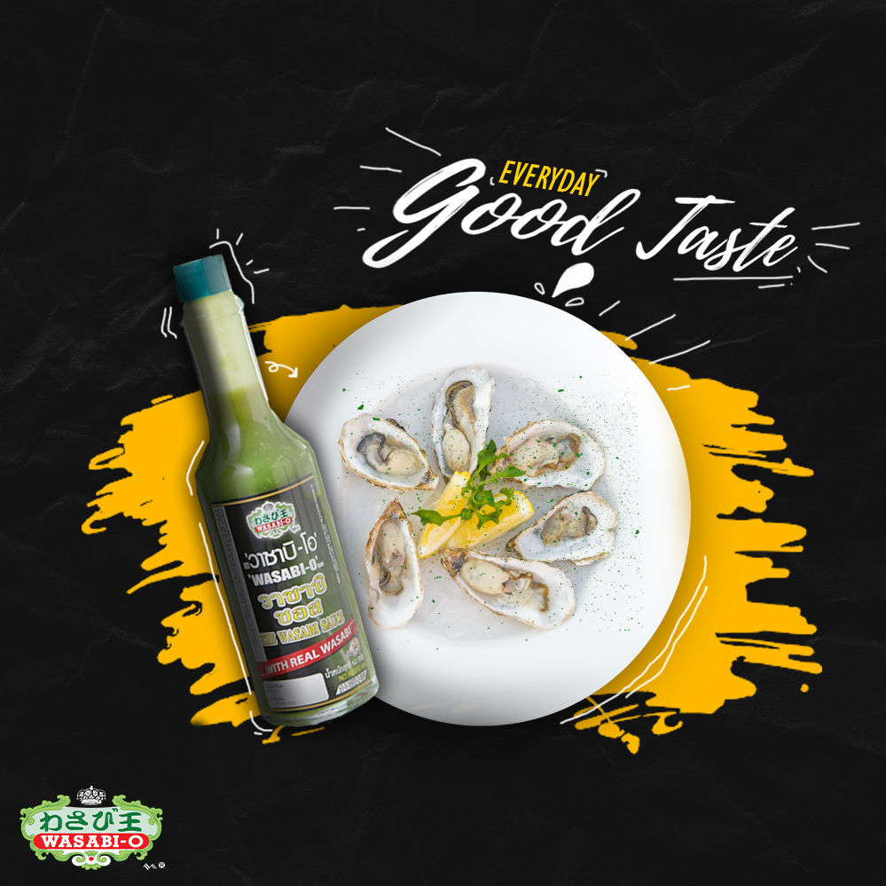 we have a solution for people who are tired of the same old typical wasabi. Why don't you try the wasabi-sauce from wasabi-o, which has a slight sour taste and a tinge of spiciness, which is the taste